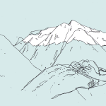 Anthropomorphic Mountains by Artist Pam