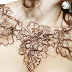 """Hair Necklace"" by artist Kerry Howley"