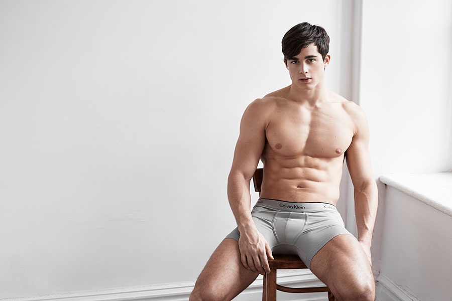 Male model Pietro Boselli models for the latest campaign for Simons ...