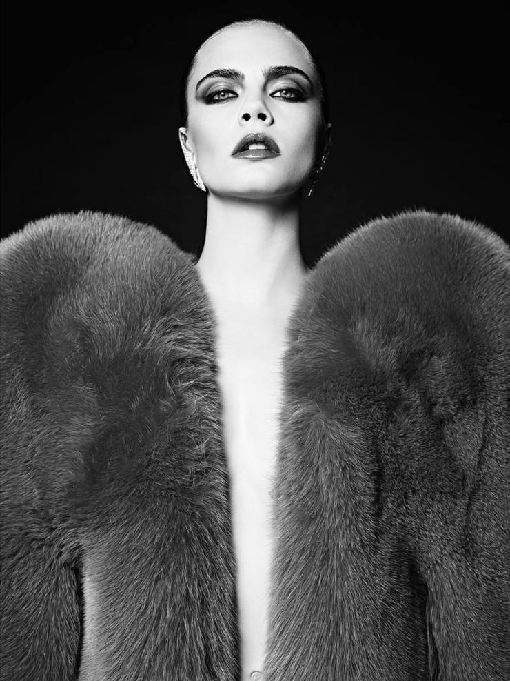 Cara Delevingne for Saint Laurent La Collection De Paris FW 2016 (4)