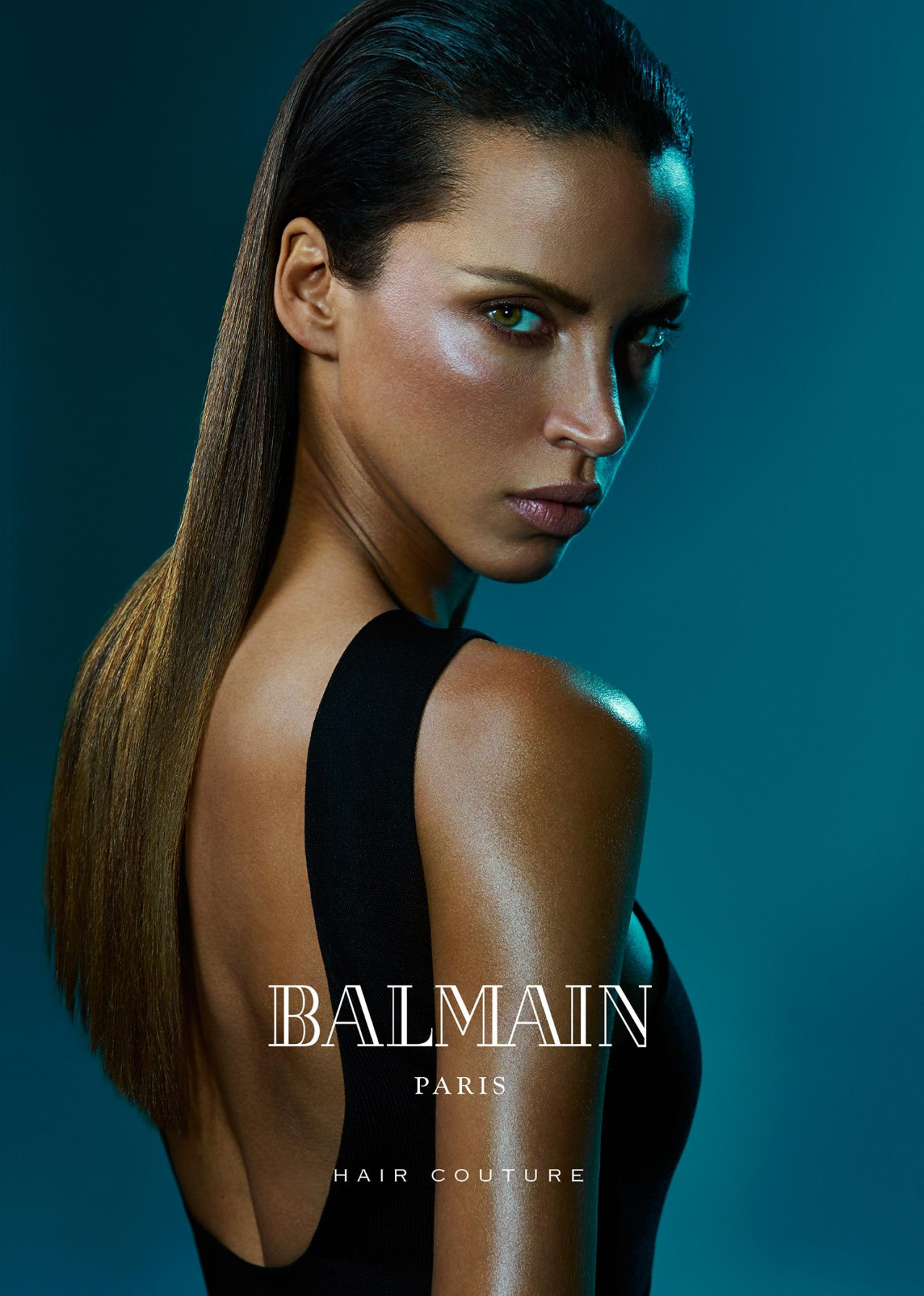 Balmain Hair Couture SS 2016 ft. Sean O'Pry & Noemie Lenoir (2)