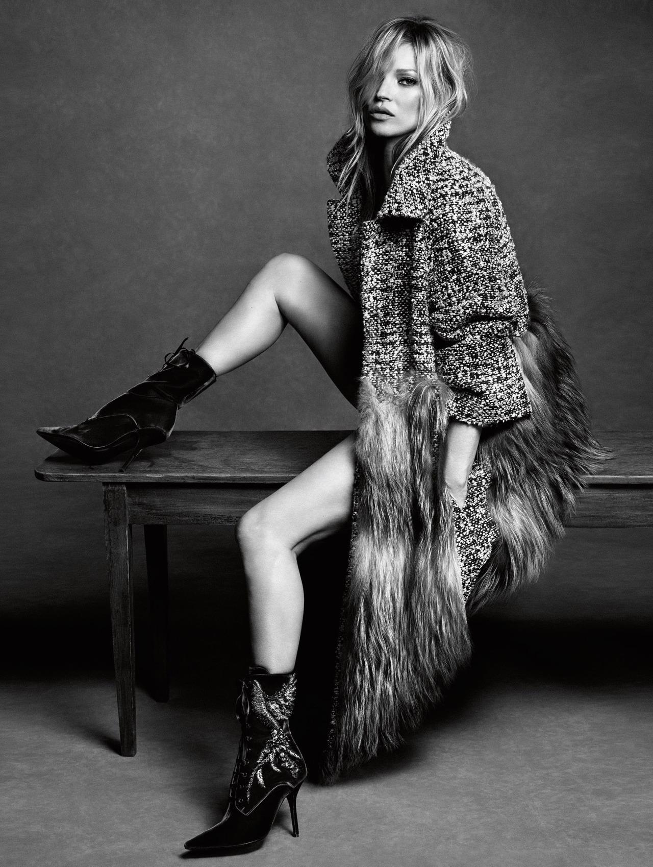 Kate Moss for Alberta Ferretti's fall campaign.