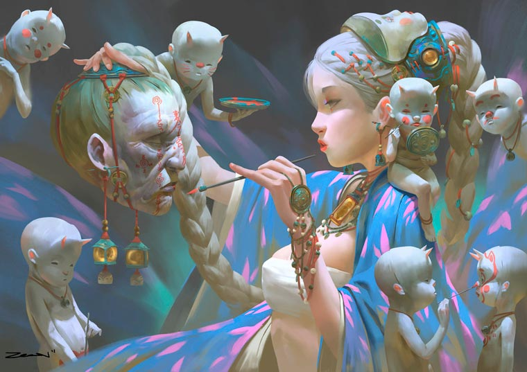 Fantasy Portait Illustrations by Zeen Chin (8)