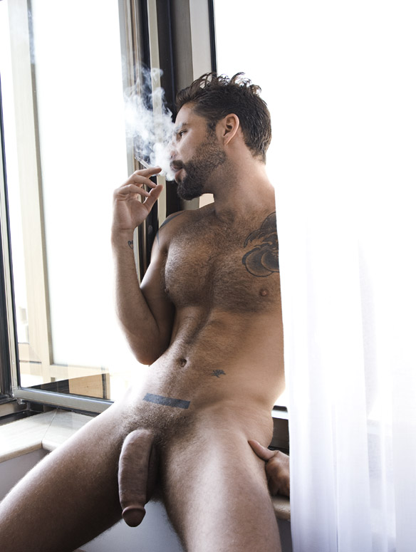 naked smoking nude smoke nudist